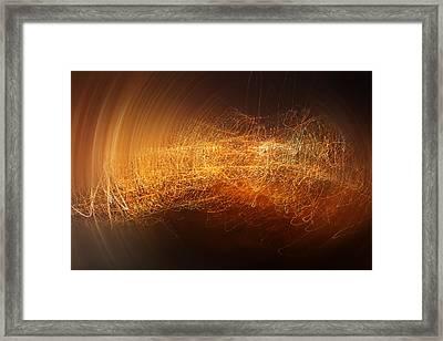 Abstract Time Framed Print by Vitaliy Gladkiy