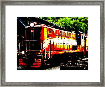 Abstract Train Engine  Framed Print by Mark Moore