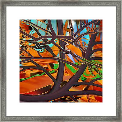 Abstract - Tree In Autumn Framed Print