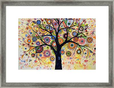 Abstract Tree Painting ... Life Giver Framed Print by Amy Giacomelli
