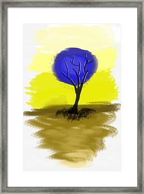 Abstract Tree Painting Framed Print