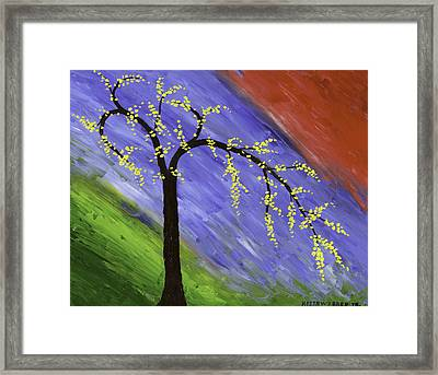 Abstract Tree Painting Framed Print by Keith Webber Jr