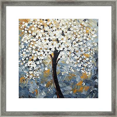 Abstract Trees Framed Print by Jolina Anthony
