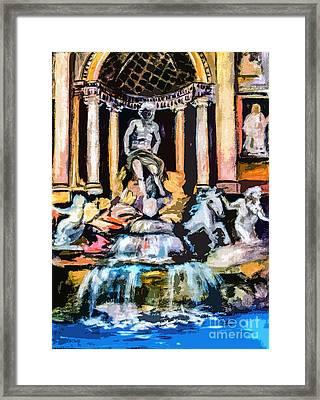 Abstract Trevi Fountain Rome Italy Framed Print