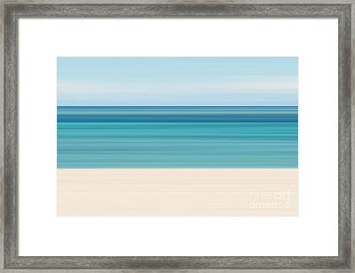 Abstract Tropical Beach Framed Print by Katherine Gendreau