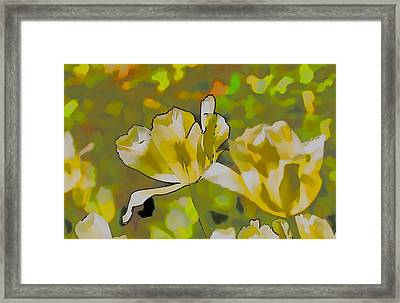 Abstract Tulip Framed Print