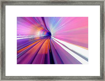 Abstract Underground Railway, Pudong Framed Print
