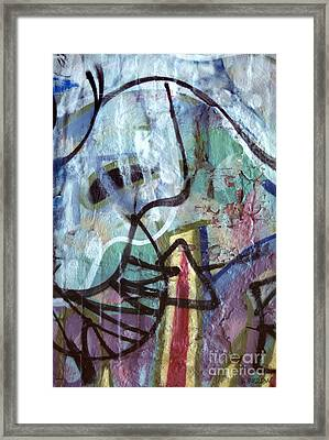 abstract urban art - Paint Your Mountain Framed Print