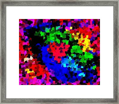 Abstract Valentine 7-13 Framed Print by L Brown
