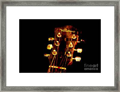 Abstract - Ventura Highway - Guitar - Musician Framed Print by Andee Design