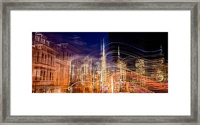 Abstract View Of San Franciscos Framed Print