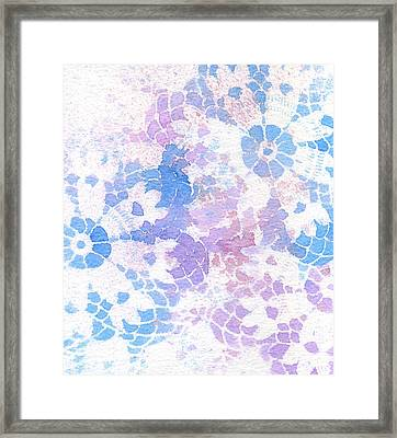 Abstract Vintage Lace Framed Print
