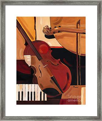 Abstract Violin  Framed Print by Paul Brent