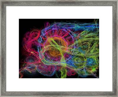 Abstract Virus Budding Painterly 1 Framed Print by Russell Kightley