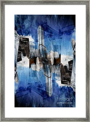 Abstract Wabash And Wacker Drive Chicago Framed Print by Linda Matlow