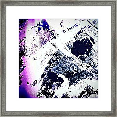 Purple And White 2 Framed Print