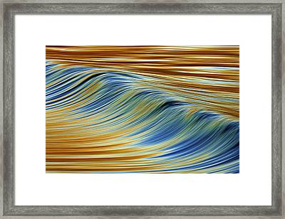 Abstract Wave C6j7857 Framed Print by David Orias