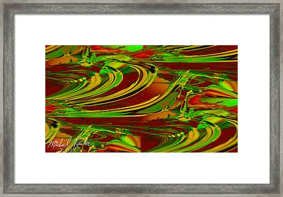 Abstract Waves Framed Print by Michael Rucker