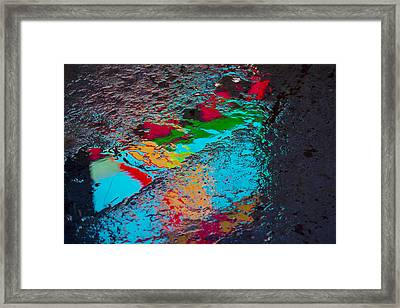 Abstract Wet Pavement Framed Print