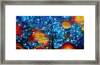 Abstract Whimsical Original Landscape Painting Childhood Memories By Madart Framed Print by Megan Duncanson