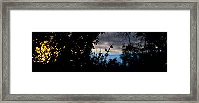 Abstract Window View Framed Print