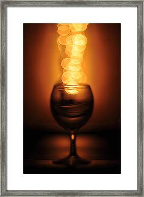 Abstract Wine Glass Framed Print