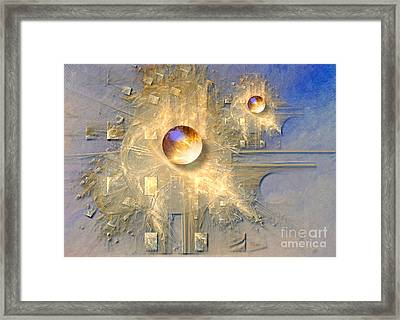Abstract With Balls Framed Print