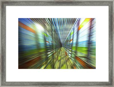 Abstract With Diminishing Perspective Framed Print by Wladimir Bulgar