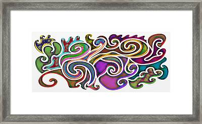 Abstract With Filter Effect Framed Print