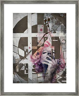 Abstract Woman 001 Framed Print by Corporate Art Task Force