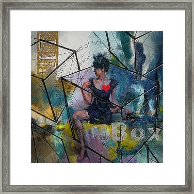 Abstract Woman 002 Framed Print