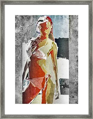 Abstract Woman Framed Print by David Ridley