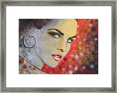 Abstract Woman Painting Print .. True Framed Print by Amy Giacomelli