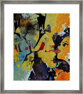 Abstract Women 010 Framed Print by Corporate Art Task Force