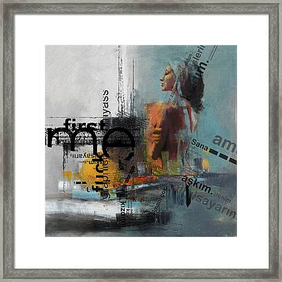 Abstract Women 013 Framed Print
