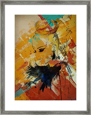 Abstract Women 010 Framed Print