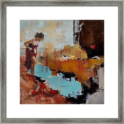 Abstract Women 019 Framed Print