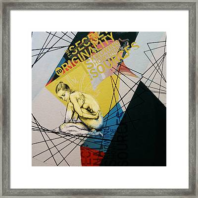 Abstract Women 021 Framed Print