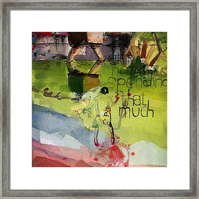 Abstract Women 023 Framed Print