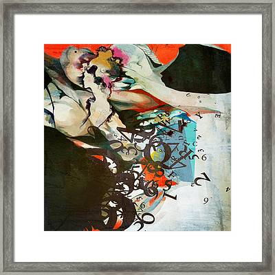 Abstract Women 025 Framed Print by Corporate Art Task Force