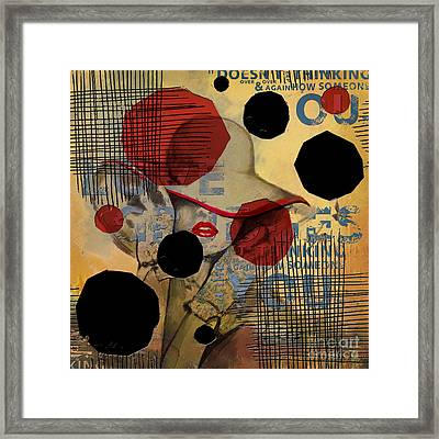 Abstract Women 07 Framed Print by Mahnoor Shah