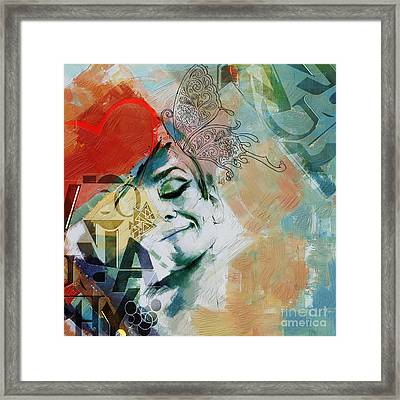 Abstract Women 8 Framed Print by Mahnoor Shah
