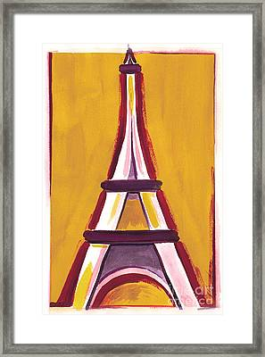 Abstract Yellow Red Eiffel Tower Framed Print