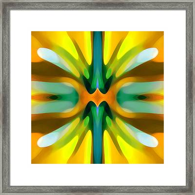 Abstract Yellowtree Symmetry Framed Print by Amy Vangsgard