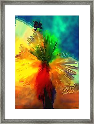 Abstract Yucca Framed Print by Barbara D Richards
