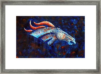 Abstracted Bronco Framed Print