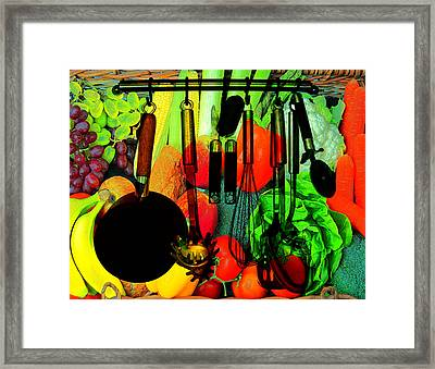 Abstracted Kitchen Scene Framed Print
