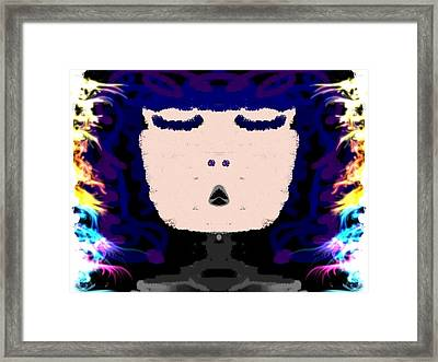 Abstracted Lady Framed Print