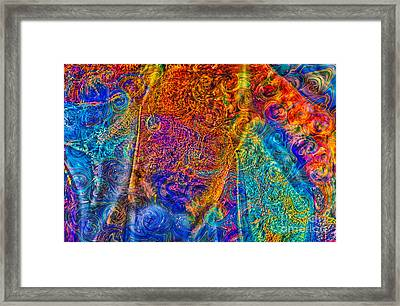 Abstracted Lioness Colorful Abstract Art By Omaste Witkowski Framed Print