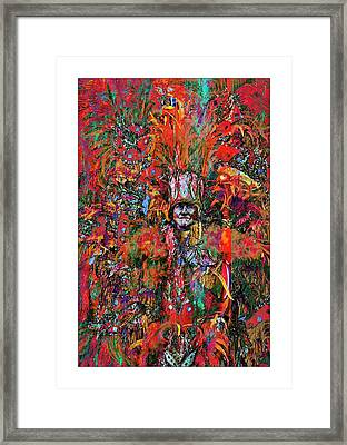 Abstracted Mummer Framed Print